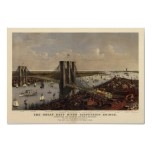 Brooklyn Bridge by Currier and Ives (1885) Print
