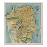 Chevalier's map of San Francisco (1912) Print