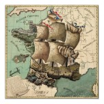 Map of France as a Ship (1796) Posters