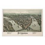 Map of Pittsburgh (Fowler) - 1902, BigMapBlog.com Poster