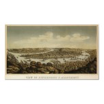 Pitsburgh birdseye map - 1874 (Krebs) BigMapBlog Posters