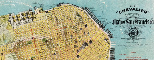 Chevalier Map of San Francisco wide thumbnail image
