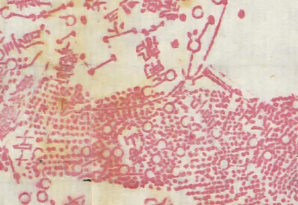 18th Century Chinese Astronomic Map, image irregularity detail, image 05