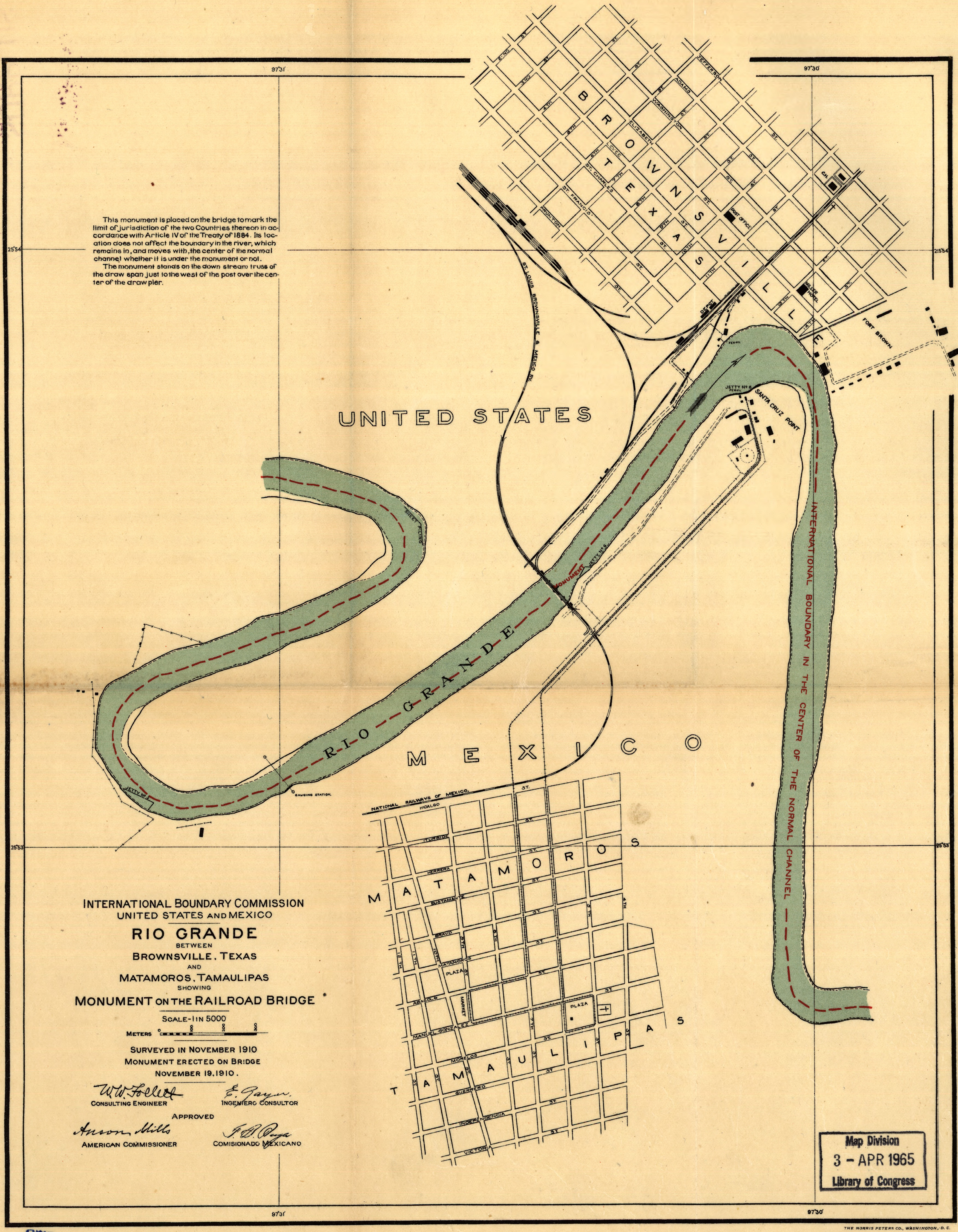 Map Of Boundary Between Brownsville Texas And Matamoros Mexico - Brownsville on us map