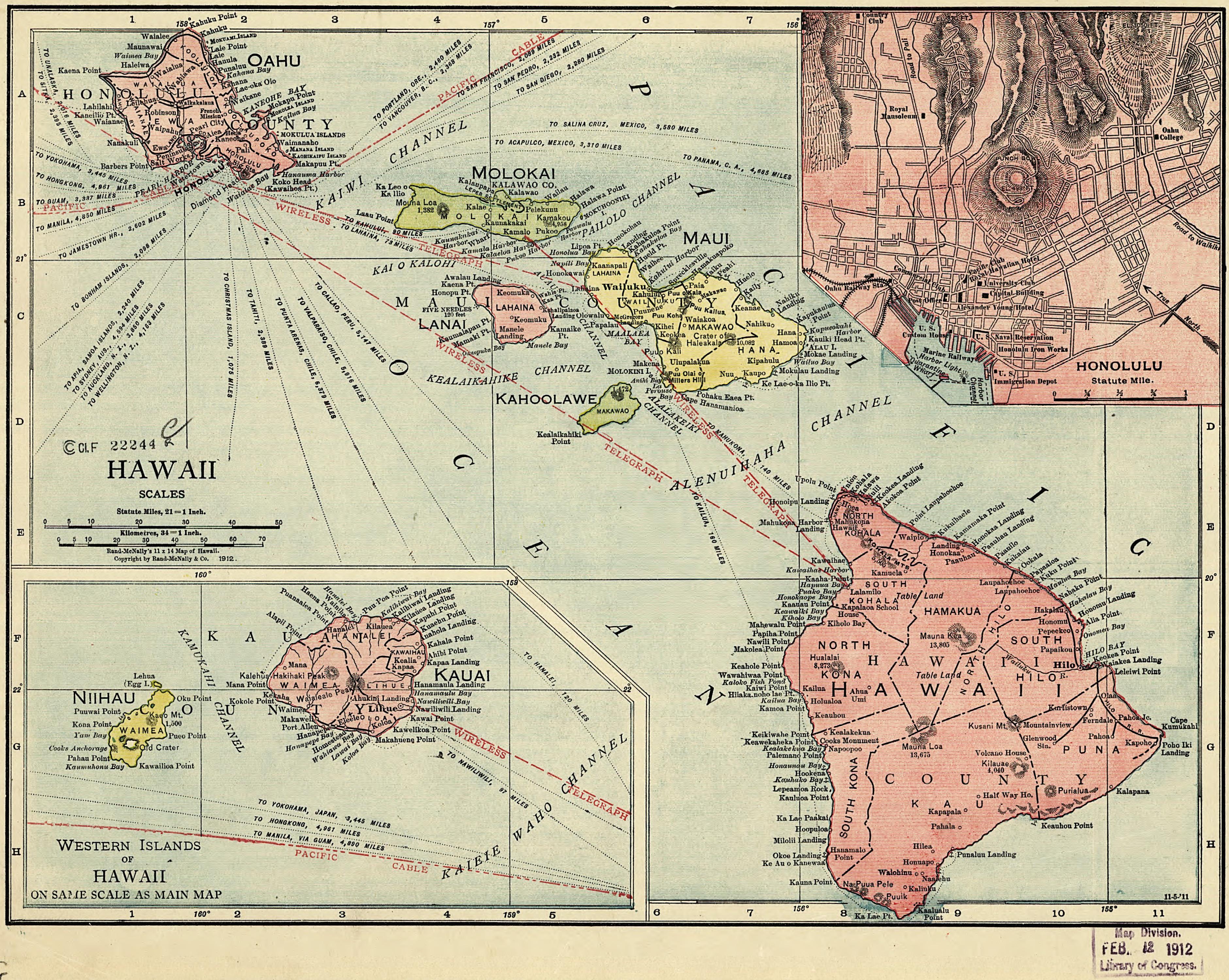 Map Of Hawaii Rand McNally - Map of hawaii