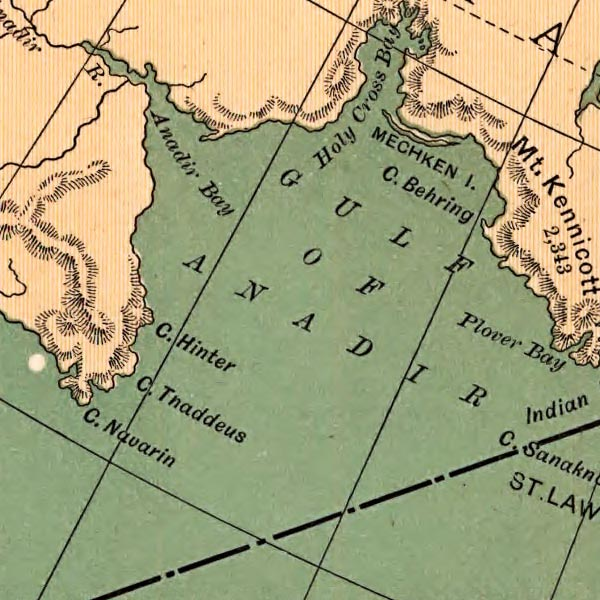 Map of Alaska Excursion Steamer Routes image detail