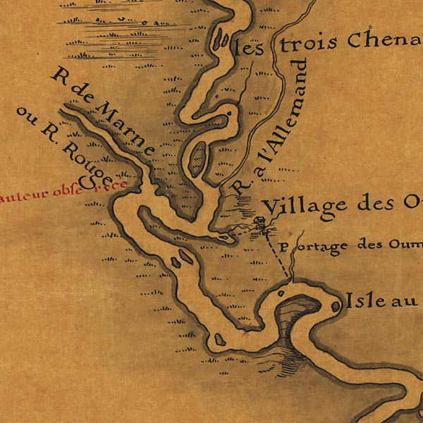 Map of the Mississippi River – Delisle image detail