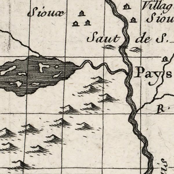 Map of the Mississippi and Louisiana – Delisle image detail