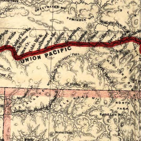 Map of Union Pacific R.R. and branch lines image detail