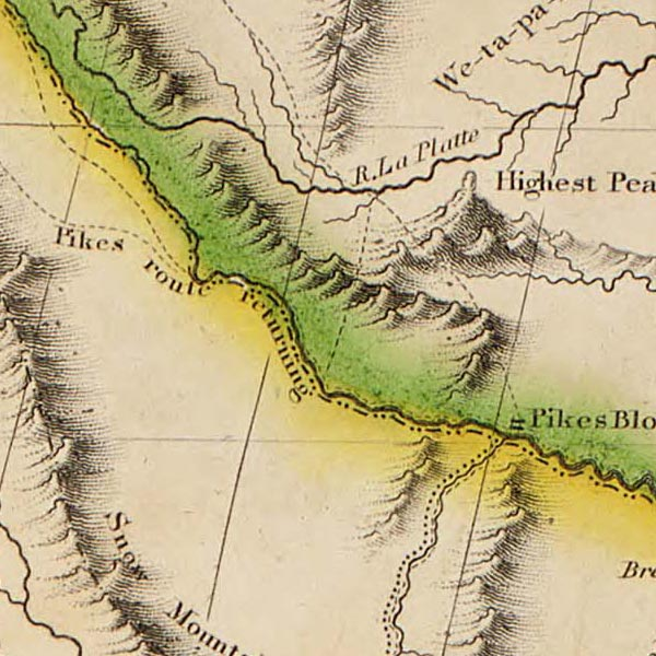Map of British & Spanish possessions in North America image detail