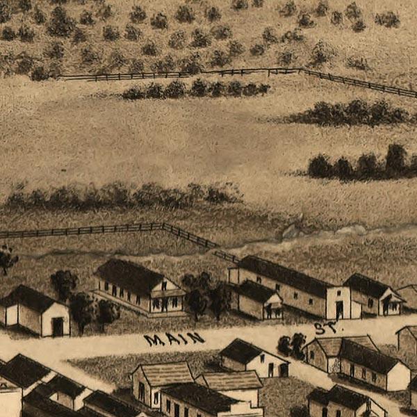 Siskiyou County, Cal. Birdseye Map image detail