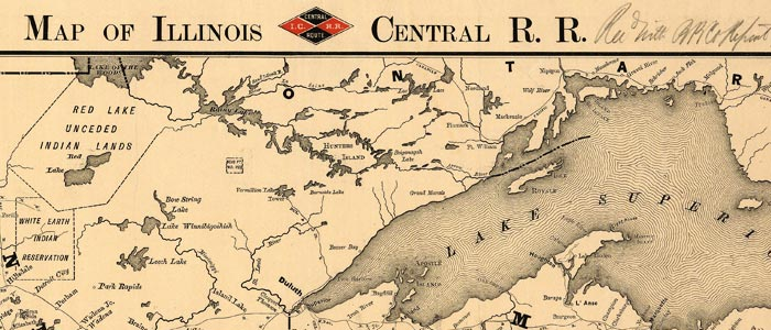 Map of Illinois Central R.R. wide thumbnail image
