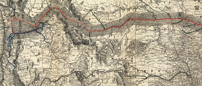 Map of Northern Pacific Railroad  wide thumbnail image