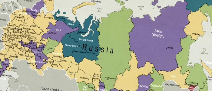 Administrative Divisions Of Russia In - Russia administrative map