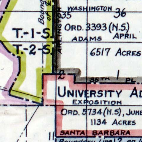 Territory Annexed to the City of Los Angeles, California image detail