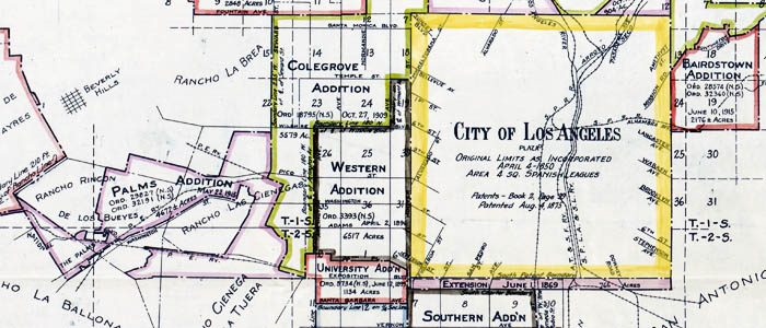 Territory Annexed to the City of Los Angeles, California wide thumbnail image