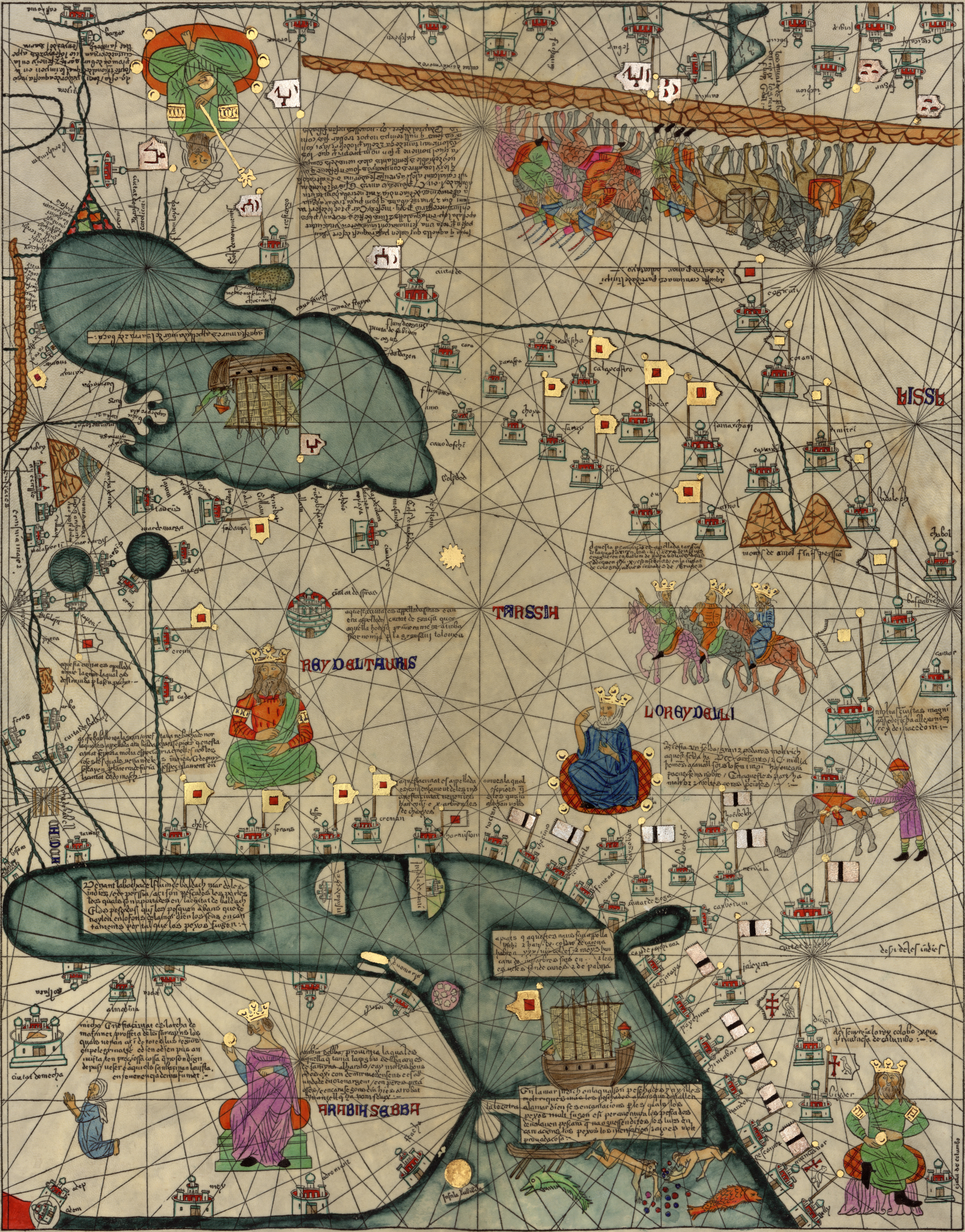 Cresques catalan atlas world maps 1387 dwnld full size gumiabroncs Image collections
