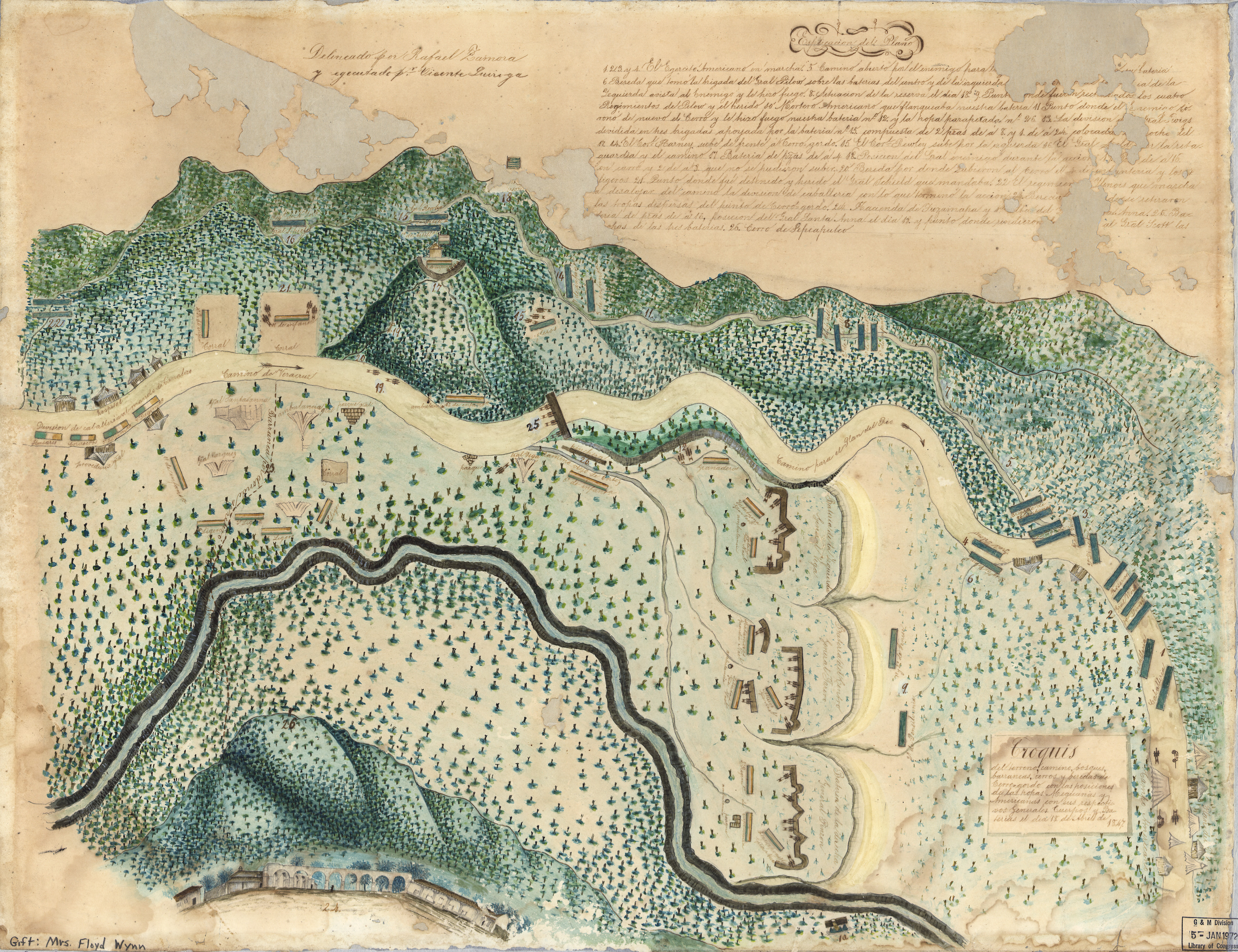 Map Of US And Mexican Military Positions - Us map 1847