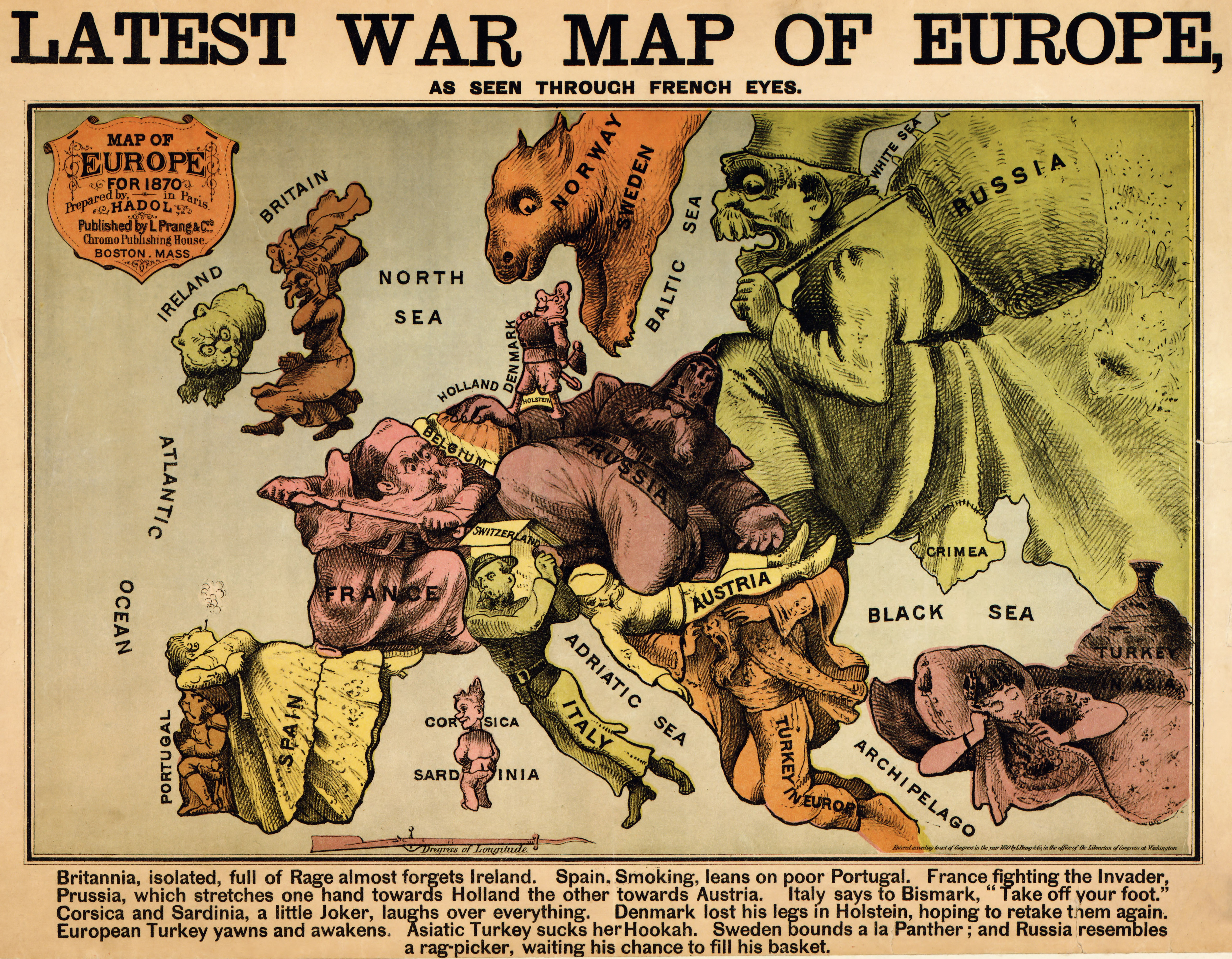 War Map Of Europe Seen Through French Eyes - French map of europe