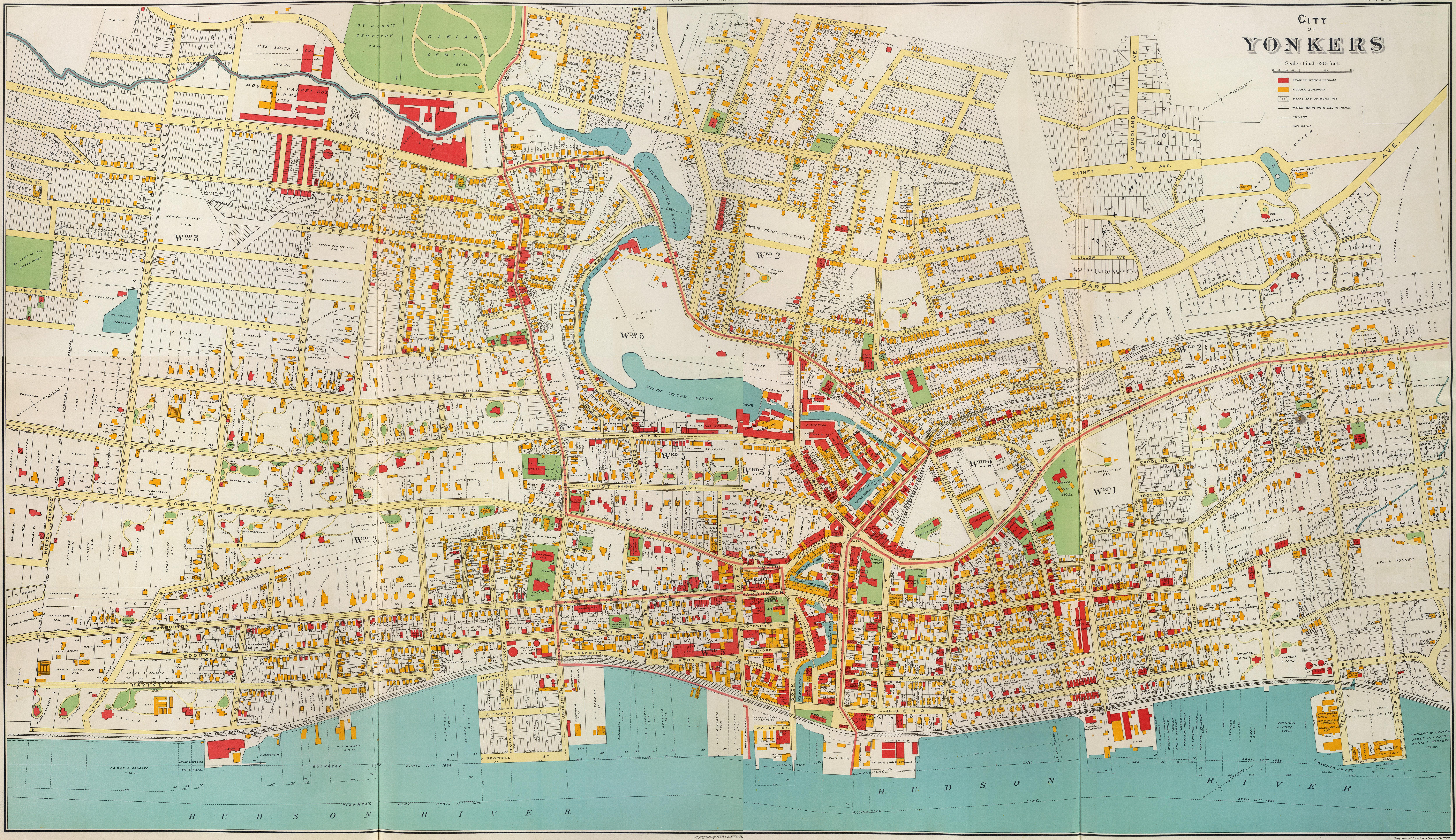 Biens City of Yonkers New York 1893