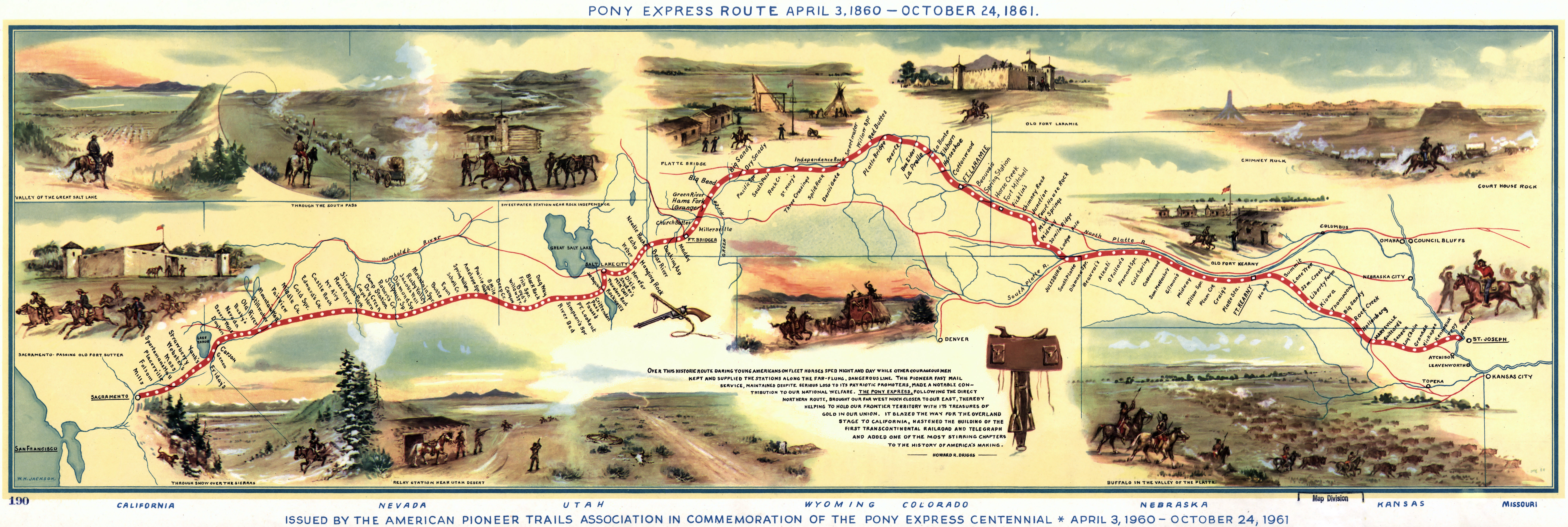 the pony express route 1960
