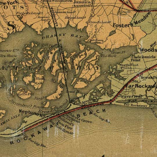 Colton's New Map Of Long Island (1888) image detail