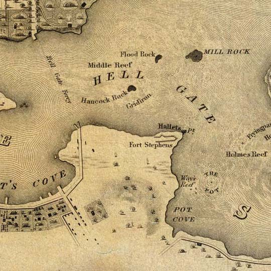 Colton's Topographical Map Of The City and County Of New York (1836) image detail