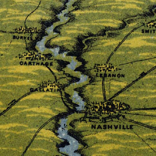 Bachmann's Birdseye of the confluence of the Ohio and Mississippi Rivers at Cairo, Illinois (1861) image detail