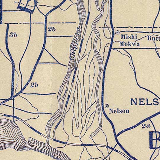 Bicycle Road Map of Wisconsin. League of American Wheelmen (1897) image detail