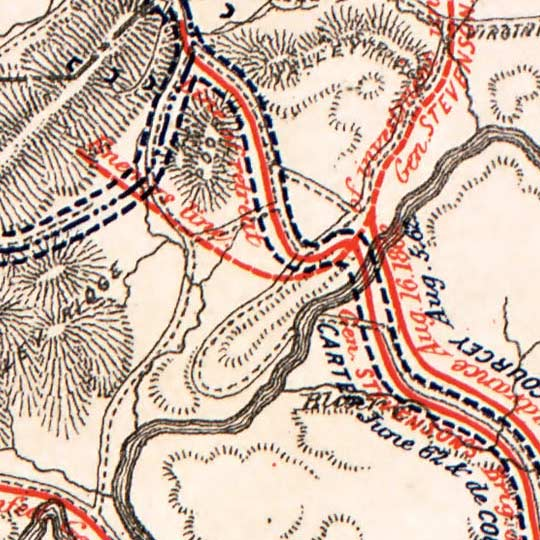 Maps of Civil War - Defenses and Troop Movements (1877) image detail