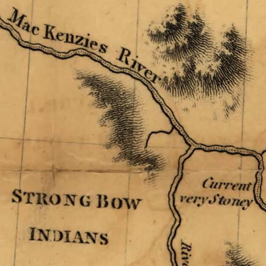 Maps of Alexander Mackenzie's explorations in Canada in 1793 image detail