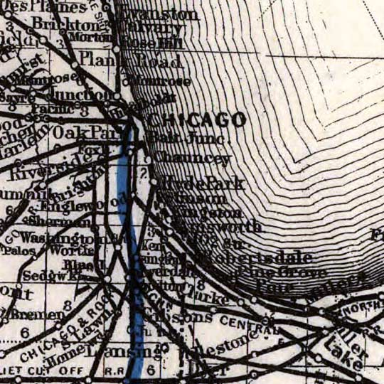 Maps of the Ohio Southern Railroad (1881) image detail