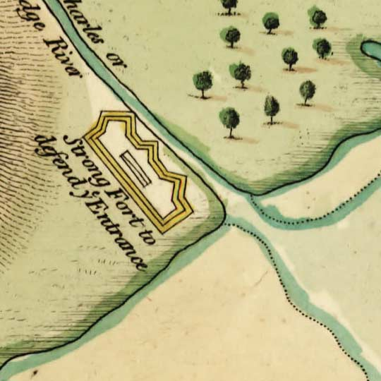 Revolutionary War Map of the Boston Area (1776) image detail
