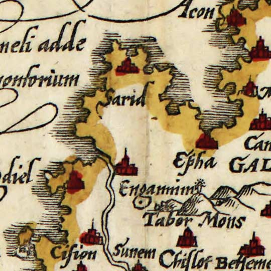 Munster's Map of the Holy Land (1588) image detail