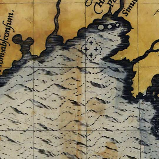 Map of Florida and the Caribbean in 1588 - by De Morgues image detail