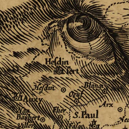 Map of Belgium as a Lion - 1611 image detail