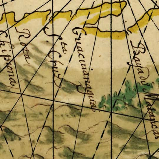 Vingboons' Map of Cuba (1639) image detail