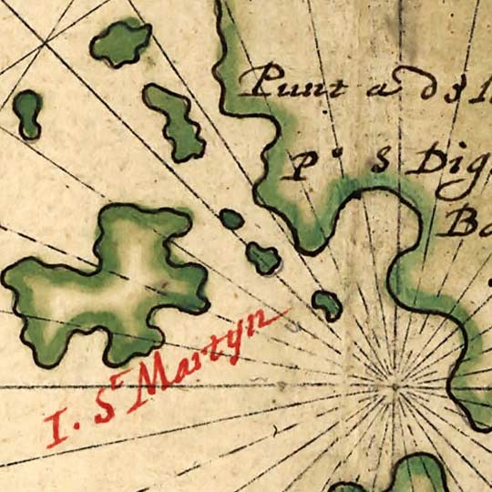 Vingboons' Map of California as an Island (1650s) image detail