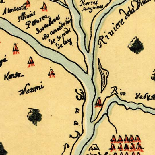 Map of Jolliet's Discoveries in America in 1673 and 1674 image detail