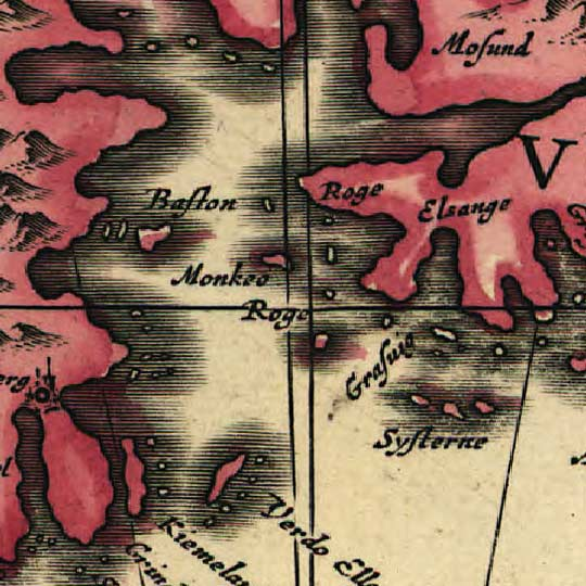 Jannson's Map of Norway in 1700 image detail