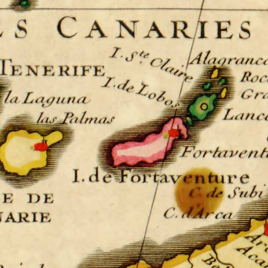 L'Isle's Map of the Barbary Coast in 1707 image detail