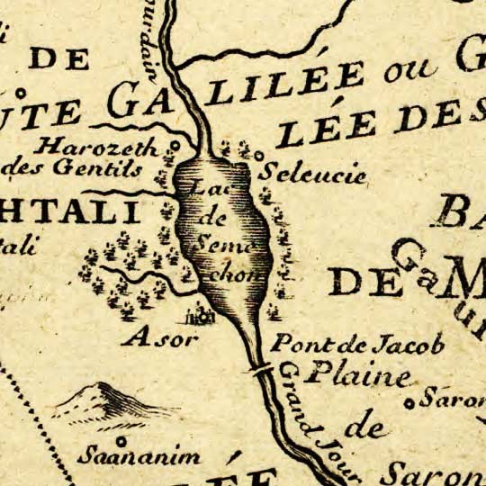 Liebaux's Map of the Holy Land (1720) image detail