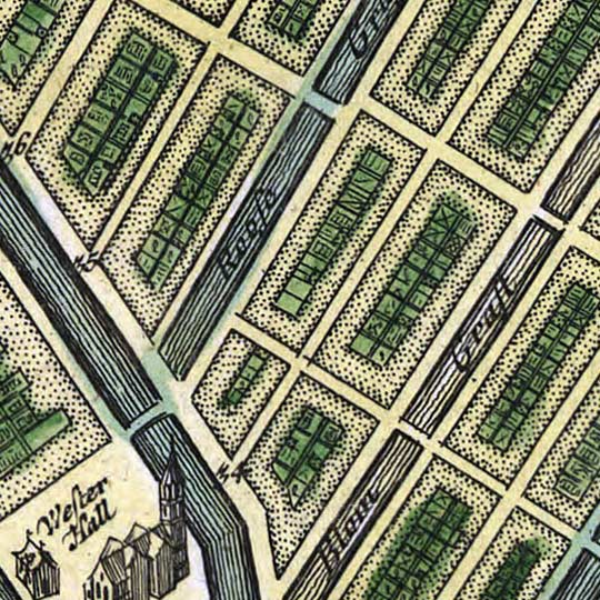 Homann Erben's Accurate Map of Amsterdam (1727) image detail