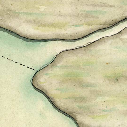 Saucier's Map of the St Louis River (Mississippi R) near New Orleans (1749) image detail