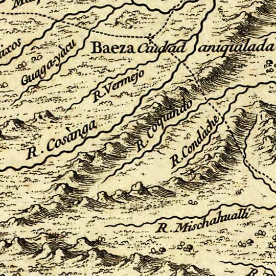 Map of Quito, Ecuador, and surroundings (1750) image detail