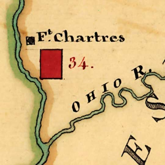 British Cantonments in America (1765) image detail