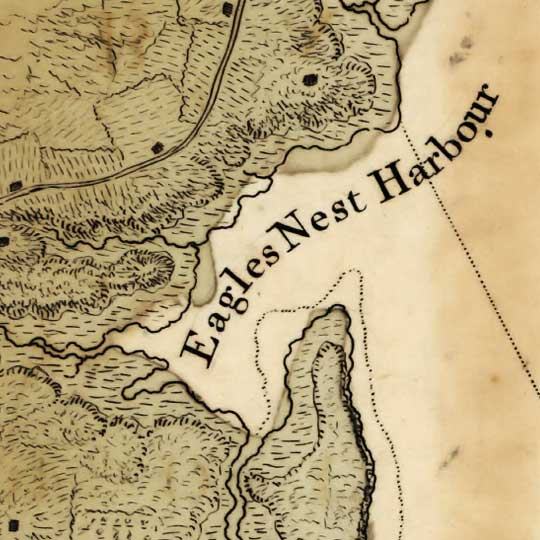 Des Barres' chart of Plymouth Bay (1770s) image detail