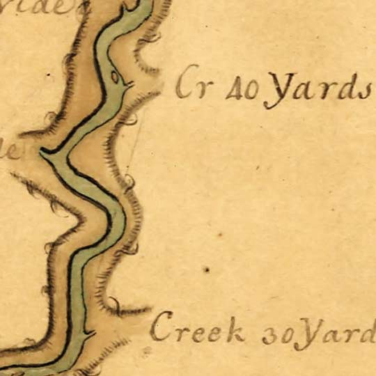 Map of the Ohio River from Fort Pitt (1776) image detail