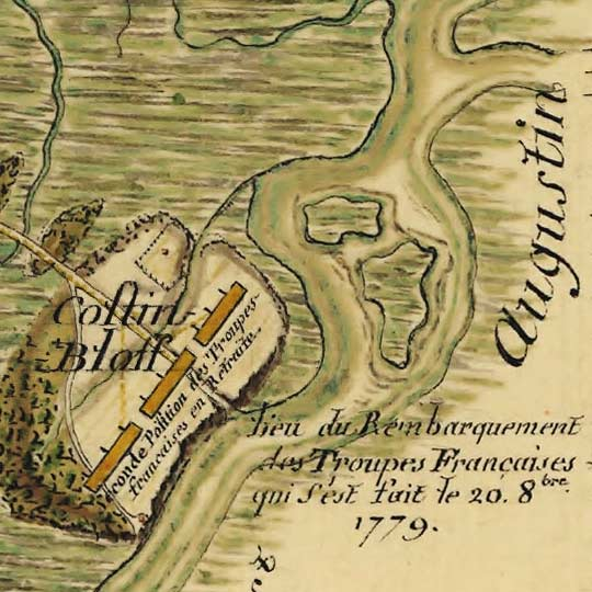 Map of the Siege of Savannah (1779) image detail