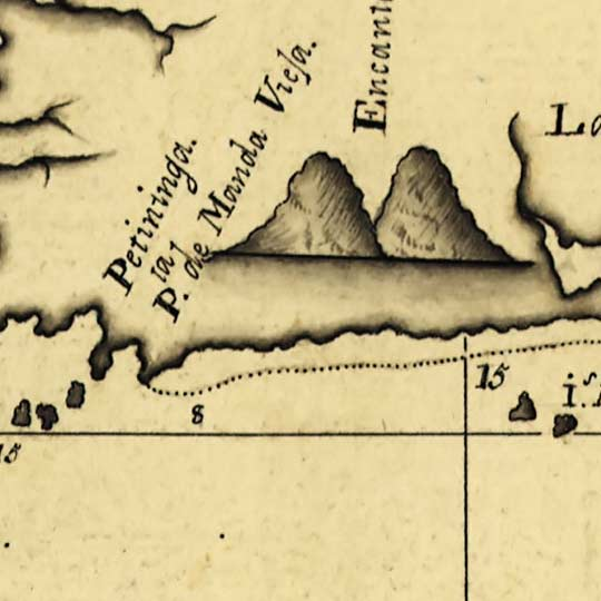 Map of the coast of Rio de Janeiro (1780) image detail